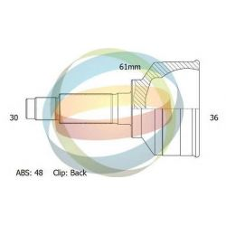 Шрус наружный TOYOTA COROLLA VERSO 2.2 D-4D (30/61MM/36) 48T