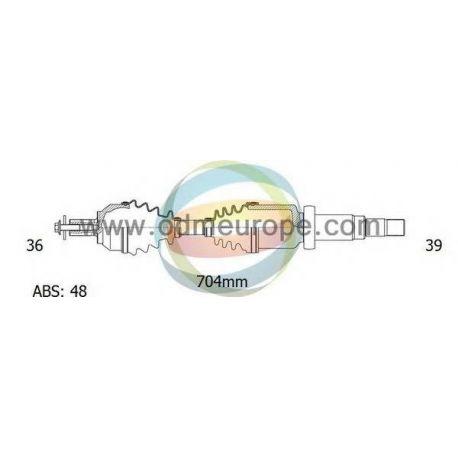 Полуось правая VOLVO XC90 2.9 T6 АКПП 2002-2006 (36/704MM/39) 48T