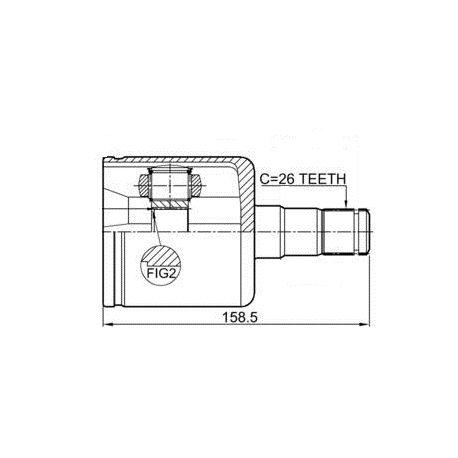 Шрус внутренний левый VOLVO S60/V70 АВТОМАТ 2.0T/2.4T/2.4D/2.5T (26 шлицов)